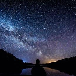 天空の星空観賞