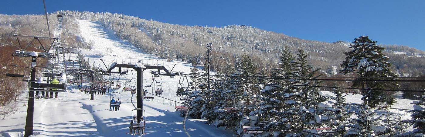 一の瀬スキー場リフト風景